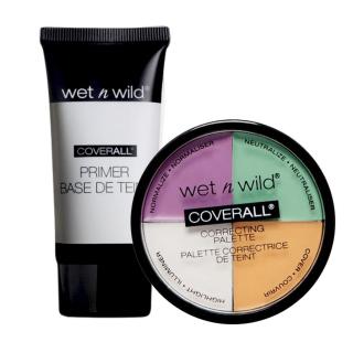 [Chính Hãng] Set Kem Lót Và Che Khuyết Điểm WET N WILD Coverall Prep & Prime Primer Correcting Palette Concealer thumbnail