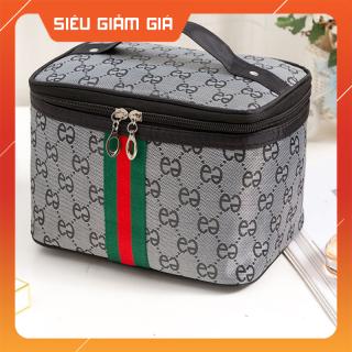 Túi tote đựng đồ trang điểm size lớn, tui dung do trang diem (màu xám) thumbnail