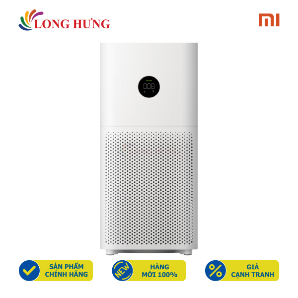 Máy lọc không khí Xiaomi Mi Air Purifier 3C BHR4518GL AC-M14-SC - Hàng chính hãng - Đèn báo chất lượng không khí, điều khiển bằng giọng nói, lọc bụi mịn 0.1 micro-met