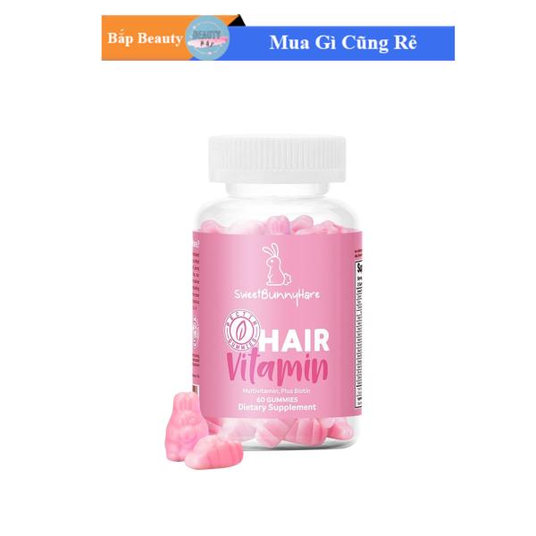 Kẹo Thỏ Mọc Tóc SweetBunnyHare Hair Vitamin Chính Hãng Từ Mỹ (hộp 60 viên)