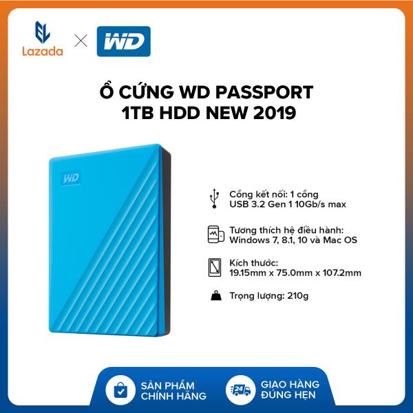 Giá [BẢO HÀNH 3 NĂM] Ổ cứng WD Passport 1TB HDD new 2019 l Tặng túi và hộp đựng chống sốc l HÀNG CHÍNH HÃNG