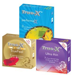Bộ 3 hộp Bao Cao Su Cực mỏng- Gân gai -kéo dài thời gian cực tốt True - X Performax (9 chiếc) thumbnail