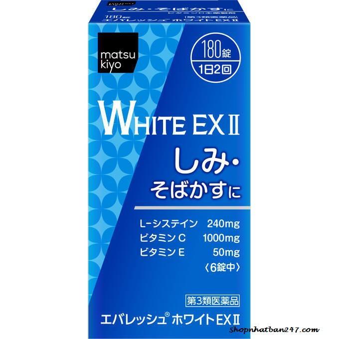 Viên uống trắng da trị nám White EX II 270 viên Nhật Bản tốt nhất