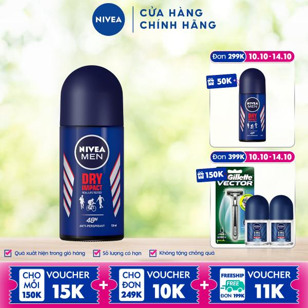 Lăn Ngăn Mùi NIVEA MEN Dry Impact Khô Thoáng (50ml) - 81610 cao cấp