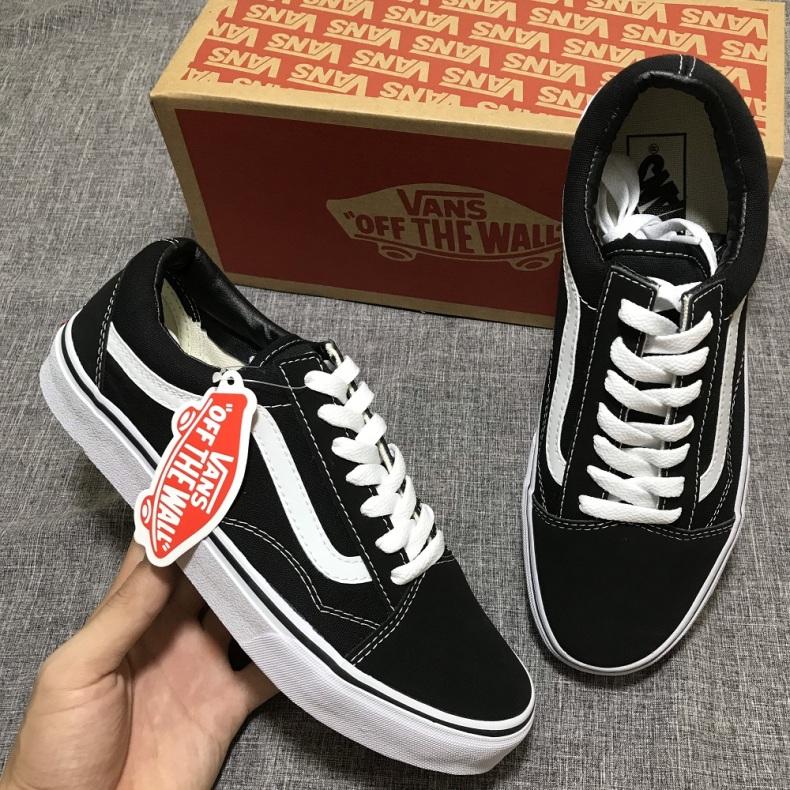 Giày Vans-Old Skool Đen Full Box Full Size Nam Nữ Bảo Hành 12 Tháng Đi Không Vừa Được Đổi Size giá rẻ