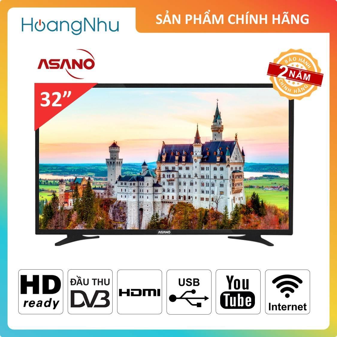Bảng giá Internet TV Asano 32 inch 32EK2 (Youtube tivi, HD Ready, Tích hợp truyền hình kỹ thuật số) - Bảo hành 2 năm