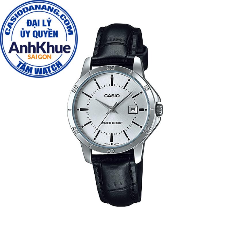 Đồng hồ nữ dây da Casio Standard chính hãng Anh Khuê LTP-V004L-7AUDF (30mm)