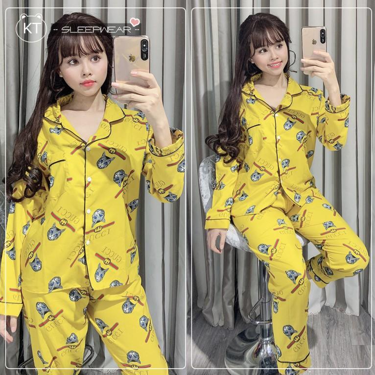 Đồ Bộ Pijama Tay Dài, Chất Vải Kate Thái Chuẩn Loại 1, CAM KẾT ĐÚNG MẪU, One Size Dưới 58kg Và Bigsize 63-70kg Có Giá Tốt