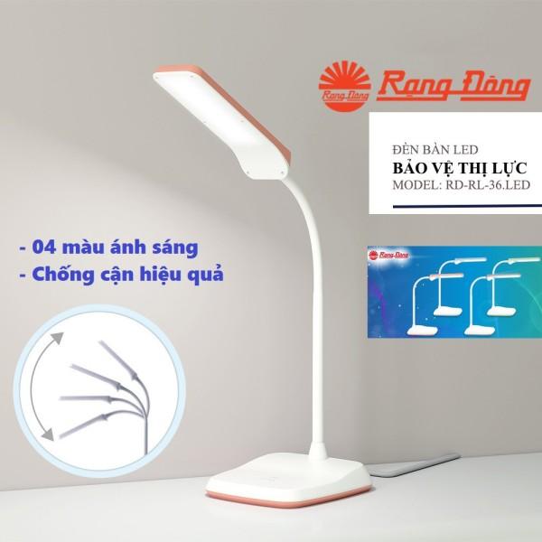 Đèn bàn LED cảm ứng 6W Rạng Đông đổi 4 màu ánh sáng, 3 múc độ sáng RD RL 36