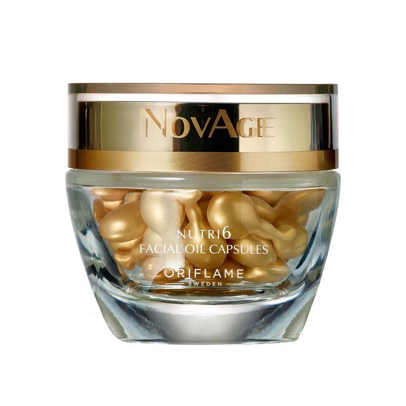 NovAge_Nutri6 Facial Oil Capsules Viên dầu dưỡng da sâu vùng mặt và cổ