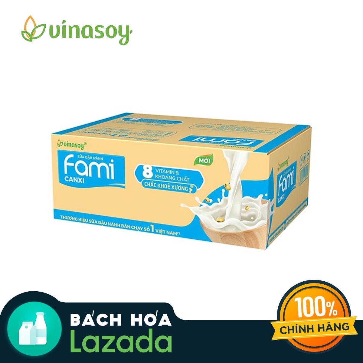 Thùng Sữa Đậu Nành Fami Canxi (40 bịch x 200ml) Nhật Bản