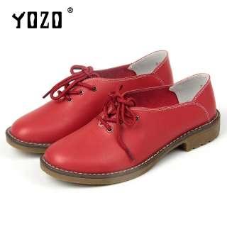 YOZO Plus Size Giày da Giày nữ Căn hộ Giày thông thường Ren Up Oxfords Giày Căn hộ Giày