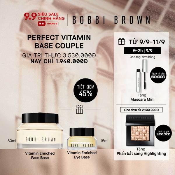 [ĐỘC QUYỀN 9-11/9] Bobbi Brown - Bộ 2 món: Kem lót dưỡng da Vitamin Enriched Face Base 50ml + Kem lót & dưỡng ẩm mắt Vitamin Enriched Eye Base 15ml ( Giá thực 3,530,000vnd)