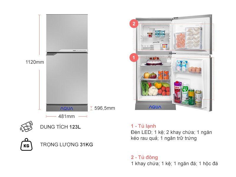 Tủ Lạnh Aqua 110L AQR-125EN