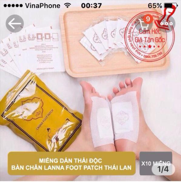 [XẢ KHO] - Combo 10 miếng dán bàn chân Lanna Foot Patch Thái Lan cao cấp