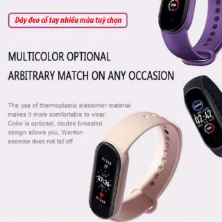 Đồng hồ thông minh, Đồng hồ thông minh M5, Vòng đeo tay thông M5, Màn Hình AMOLED 1.56 tràn viền,Sạc 1.5h dùng 15 ngày, 36 Chế độ Luyện tập, Thiết Bị Theo Dõi Sức Khỏe Bluetooth Thể Thao Chống Nước. BH 12T thumbnail