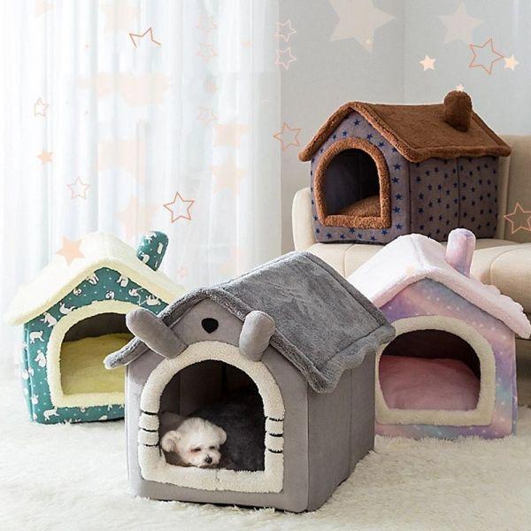 ZEEBR Có thể gập lại Thoải mái Mèo con Teddy Giấc ngủ sâu dành cho mèo con chó nhỏ Trong nhà Cũi Nhà cho chó Giường cho mèo Đồ dùng cho thú cưng
