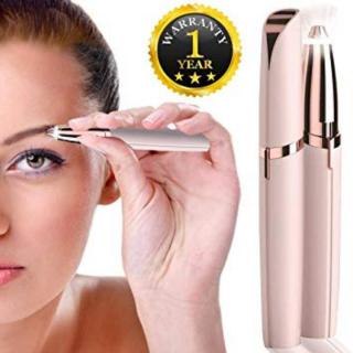 Máy tỉa lông mày dùng pin công suất 5w gói tặng kèm dụng cụ lấy ráy tai có đèn ( màu trắng) Bảo hành 1 tháng thumbnail
