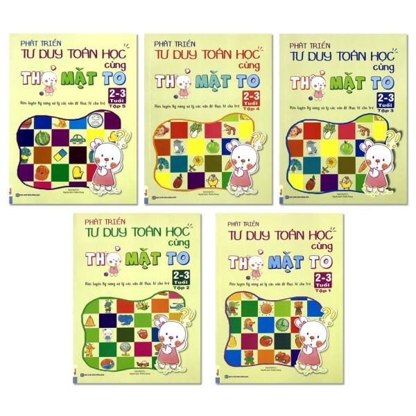Sách - Phát Triển Tư Duy Toán Học Cùng Thỏ Mặt To 2-3 Tuổi, 4-5 tuổi,5 - 6 Tuổi (Lẻ tuỳ chọn) - 2-3 tuổi tập 2