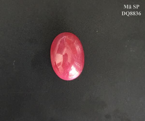Mặt Đá Ruby Tự Nhiên Yên Bái Đỏ Đậm, Mài Sống Size 11,30ct Mặt Nhẫn, Mặt Dây Chuyền