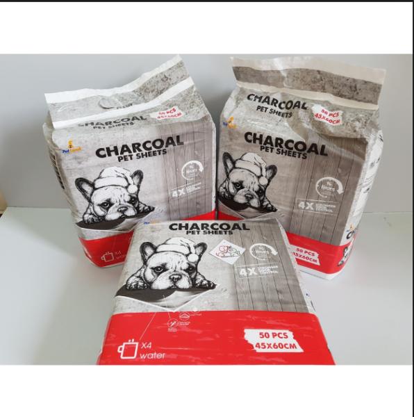 Bịch tấm lót vệ sinh than hoạt tính CHARCOAL 33x45cm - 100 miếng lót)