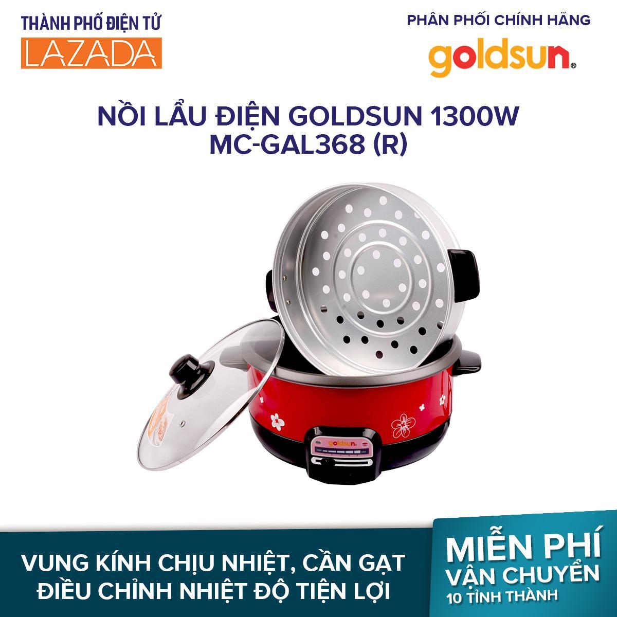 Nồi lẩu điện Goldsun 1300W MC-GAL368 (R)