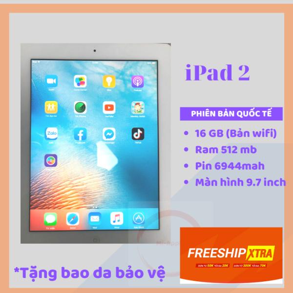 Máy tính bảng appleIpad 2 -16GB bản WIFI hoặc 3G/Wifi - CPU  1G/Hz Ram 512MB TẶNG CỦ VÀ CÁP SẠC phù hợp cho sinh Viên người lớn trẻ em va người lơn tuổi (Máy tính bảng giá rẻ)