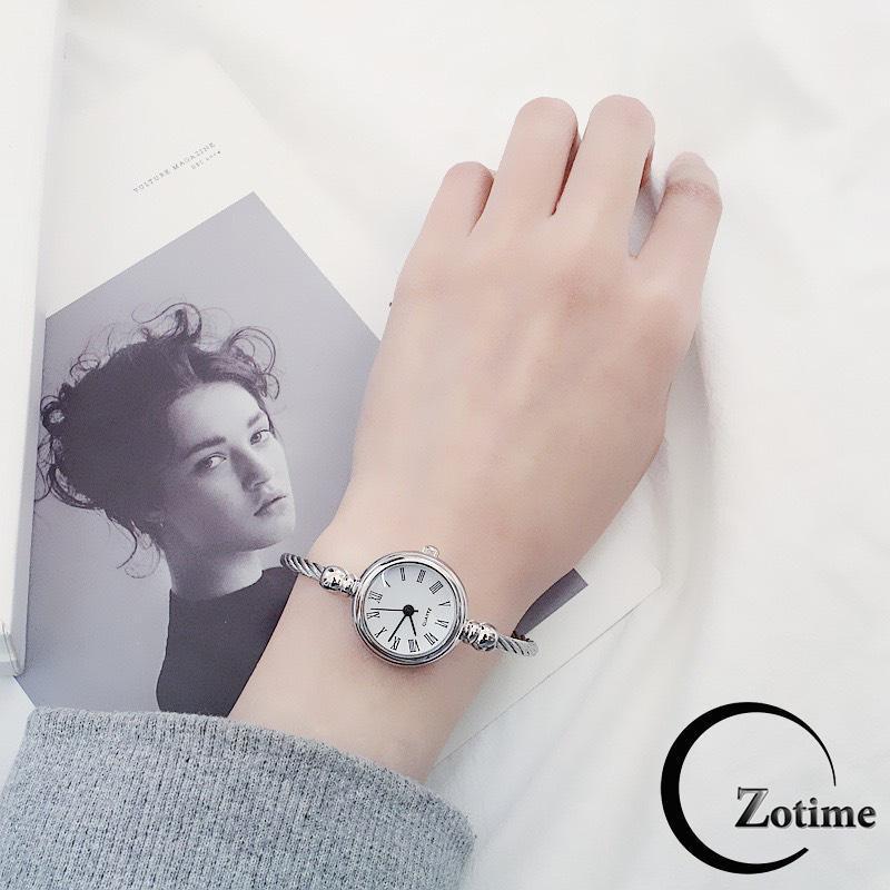 Nơi bán Đồng hồ thời trang nữ Zotime dây thép mặt số và la mã giá rẻ cực đẹp ZO28