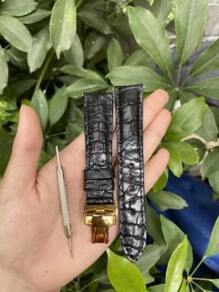 [B01] Dây đồng hồ da cá sấu KHÓA BƯỚM , HẠT TRÒN,phát hiện giả ĐỀN 10 LẦN TIỀN,TẶNG KÈM cây tháo lắp dây, dây đồng hồ da cá sấu nam, dây đồng hồ da cá sấu nữ thumbnail