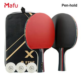 MA Table Tennis Bat Racket PingPong Paddle Long Short Handle Durable Bag 3 Balls thumbnail
