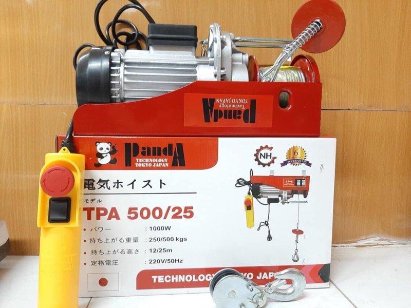 Tời điện treo PA500 (250-500kg) cáp dài 25m bảo hành 6 tháng