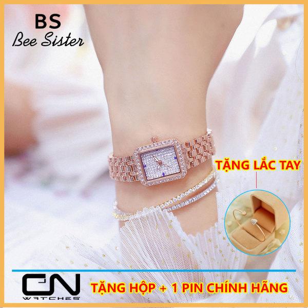 [HCM]Đồng hồ nữ Bee Sister Hàn Quốc FA1597 đính đá cao cấp