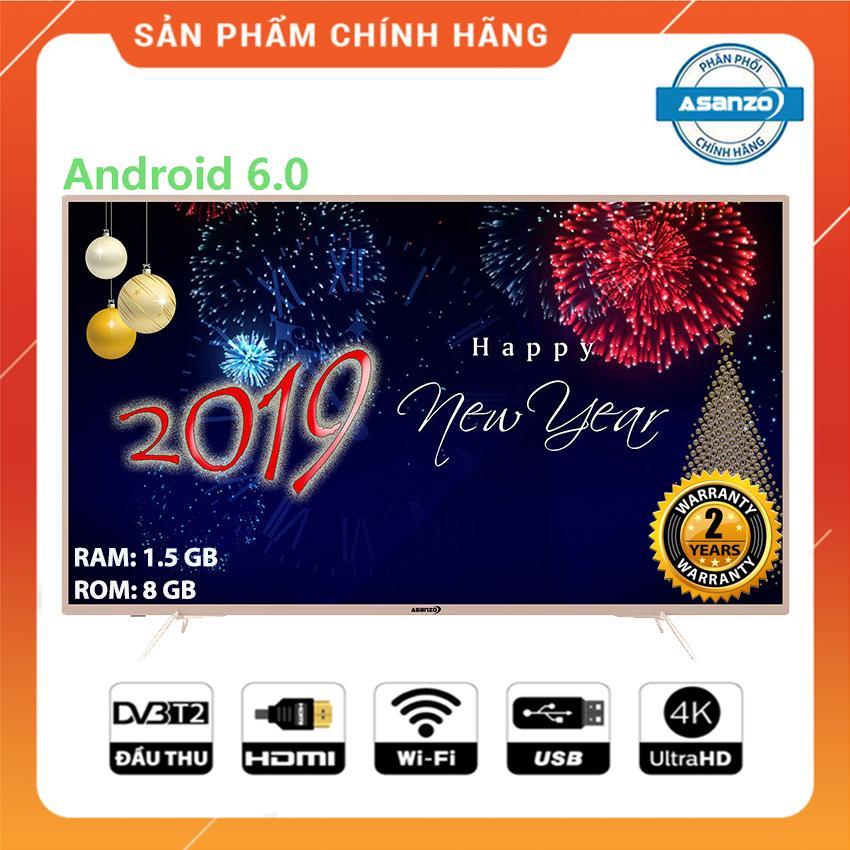 Bảng giá Smart Tivi Asanzo 55 inch Ultra HD 4K Voice Search - Model 55UV8 (NEW 2019) Tìm kiếm bằng giọng nói, Tích hợp DVB-T2, Wifi