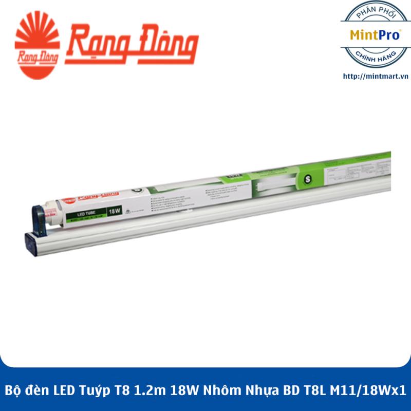 Bộ đèn LED Tuýp T8 1.2m 18W Nhôm Nhựa BD T8L M11/18Wx1 Rạng Đông - Hàng Chính Hãng
