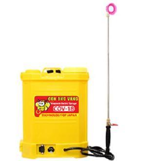 Bình phun xịt thuốc điện COV 18 ( Con Ong Vàng 18 Lít, đeo lưng)