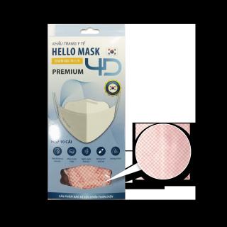 [HCM]Hộp 10 khẩu trang 4D kháng khuẩn Hello Mask Fashion - Premium - Caro Cam thumbnail