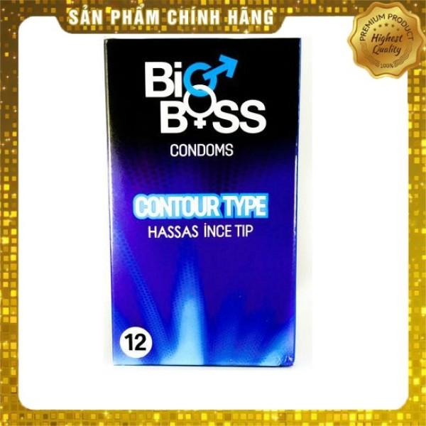Bao cao su bổ sung gel bôi trơn Bigboss Contour Type chất lượng cao - 12 chiếc giá rẻ