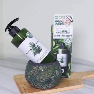 Sữa Rửa Mặt Rau Củ 3 in 1 Tẩy Trang - Rửa Mặt - Thải Độc Tố Wonder Bath Super Vegitoks Cleanser 300ml (xanh) thumbnail