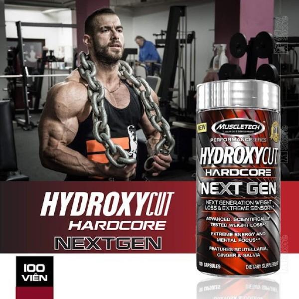 Muscletech Hydroxycut Hardcore Nextgen 100 Viên - Giảm Cân Đốt Mỡ Siết Cơ - Chính Hãng - Muscle Fitness giá rẻ