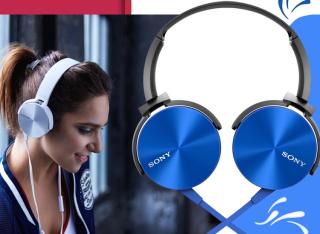 Tai Nghe Headphone Chụp Tai Extra Bass MDR-XB450AP , Với Thiết Kế Chụp Tai Trẻ Trung Và Cá Tính Thích Hợp Với Mọi Hoạt Động Như Giải Trí Làm Việc Kết Nối Jack 3.5mm Thông Dụng Tương Thích Với Mọi Thiết Chất Âm Cực Tốt , BH 12 Tháng thumbnail