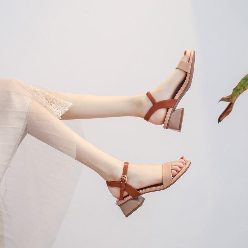 Voucher tại Lazada cho Giày Sandal Gót 3p Kiểu Hàn Quốc Siêu Hót - CG-0357 - Mua 1 Tặng 1 Quà