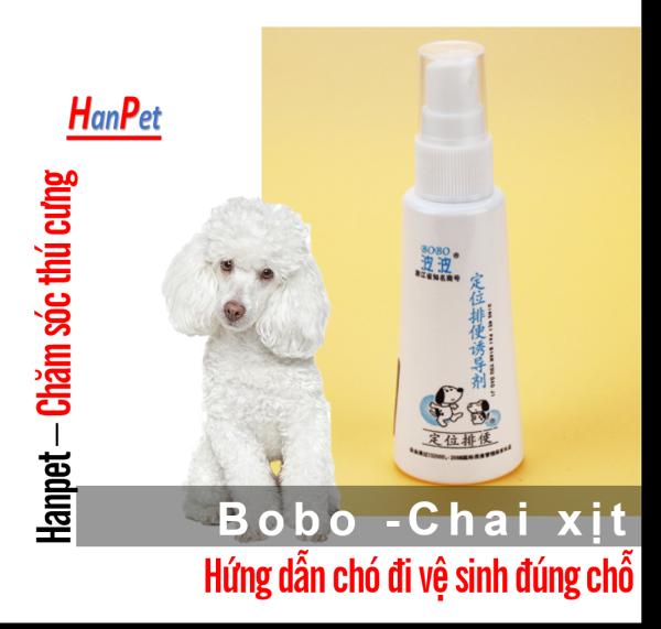 HCM-Lọ xịt giúp vật nuôivệ sinh đúng chỗ BOBO (2 loại) hướng dẫn chó mèo đi vệ sinh thế hệ mới