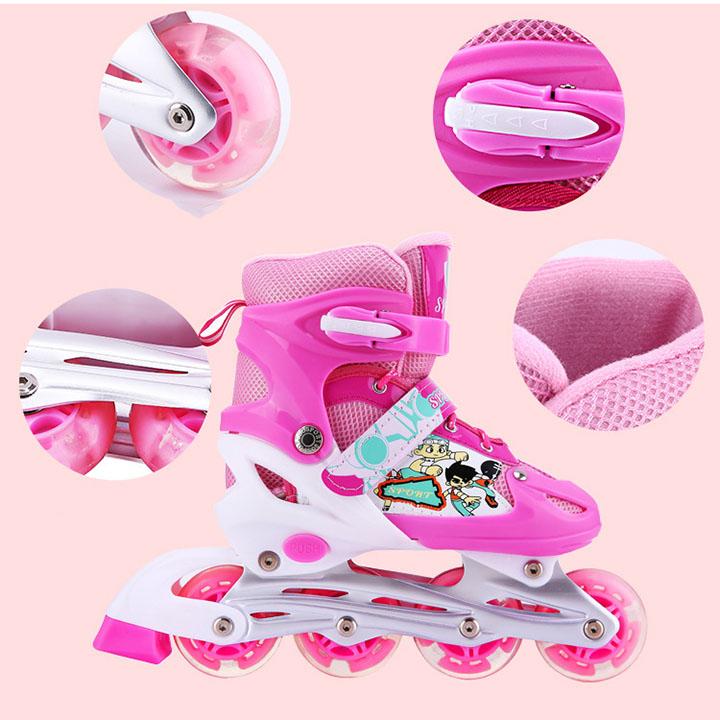 Mua giày trượt patin, giày patin cho bé giá rẻ hàng đẹp, Bao gồm bộ đồ bảo hiểm đi kèm