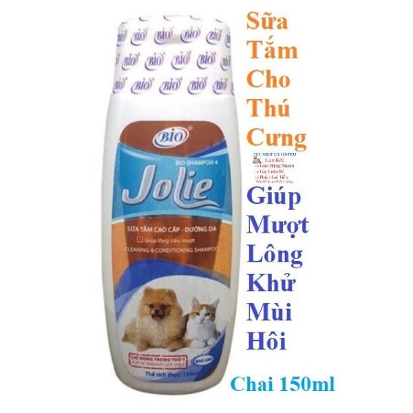 SỮA TẮM CHO THÚ CƯNG CHÓ MÈO Bio Jolie Giúp Dưỡng Da và Chống Rụng Lông Khử Mùi Hôi Chai 150ml Xuất xứ Việt Nam