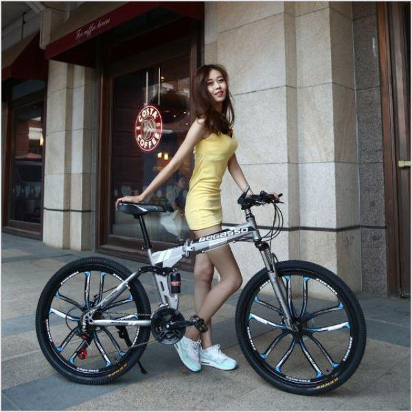 Mua Xe đạp gấp thể thao BEGASSO trẻ trung năng động cho nam nữ phanh an toàn, xe đạp leo núi xe thể thao leo núi, xe địa hình thể thao xe đạp Xe dap