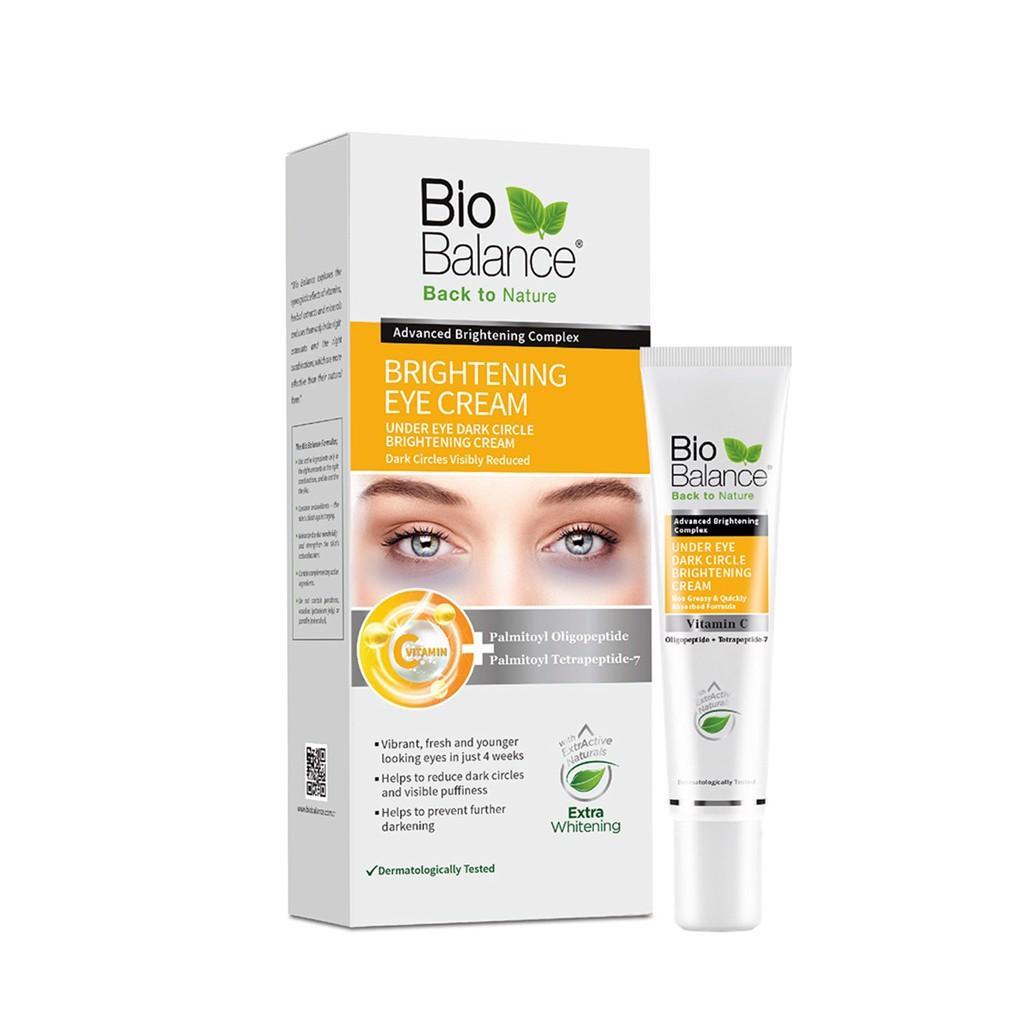 Kem hỗ trợ giảm thâm quầng mắt bọng mắt BioBalance 15ml