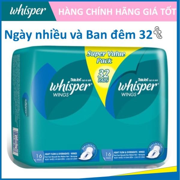 Whisper Ipad Ban Đêm Có Cánh - Gói 32 miếng cao cấp