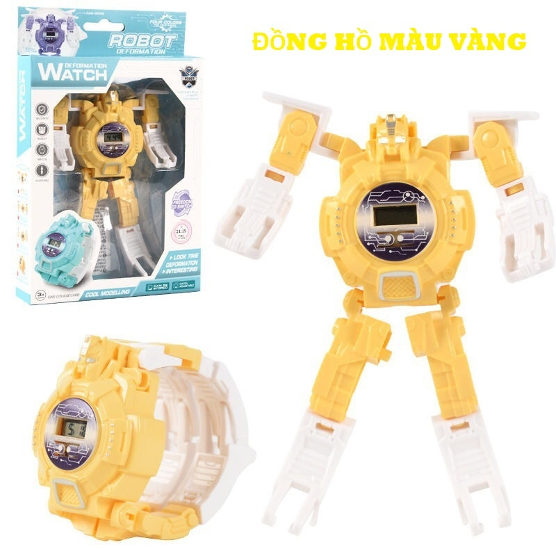 Nơi bán Đồng Hồ Điện Tử Cao Cấp  Dành Cho Trẻ Em Biến Hình Robot 2 Trong 1 DHROBOT