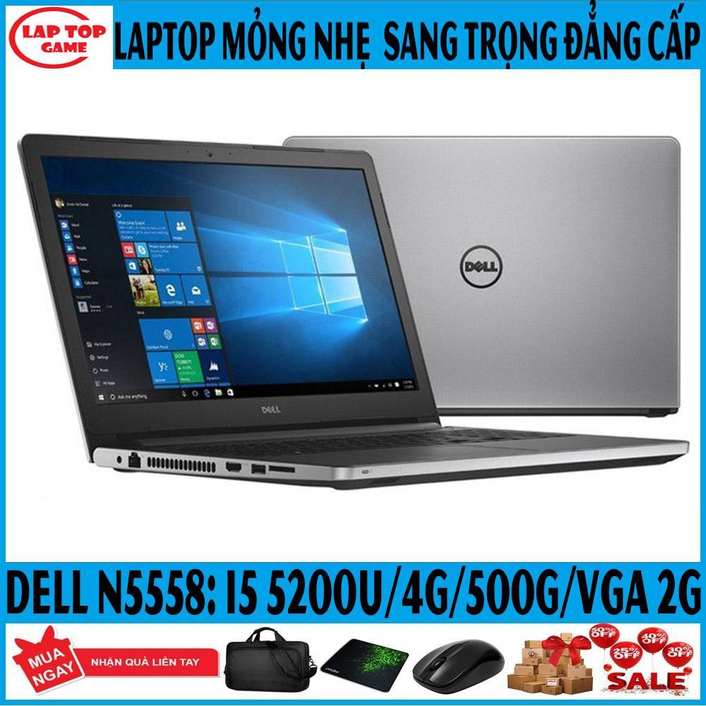 Chương Trình Ưu Đãi cho Laptop Dell Inspiron N5558 Sang Trọng Vga Rời Core I5 5200U, Ram 4G, HDD 500G,VGA GT 920 2G MẠNH MẼ, Màn 15.6 IN Dòng Laptop Thời Trang Sang Trọng Mạnh Mẽ