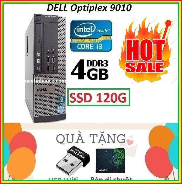 Thùng Dell optiplex 9010 Core i3 3220 / 4G / SSD 120G , Khuyến Mai USB wifi , Bàn di chuột - Bảo hành 02 Năm